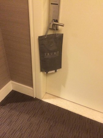 Trump International Hotel & Tower Chicago : THEY PUT YOUR NEWSPAPER IN THIS CHIC BAG!!