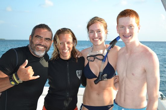 Cozumel H2O: Miguel and Loes with two happy teens