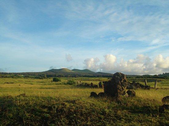 Maunga Terevaka : Paisajes camino a Terevaka