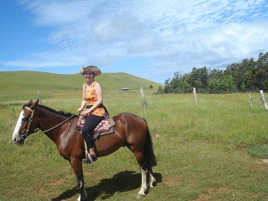 Maunga Terevaka : Subiendo en caballo al Terevaka