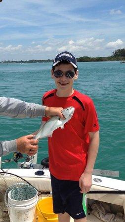 Captain Van Hubbard Fishing Charters: Shane Catching a fish!