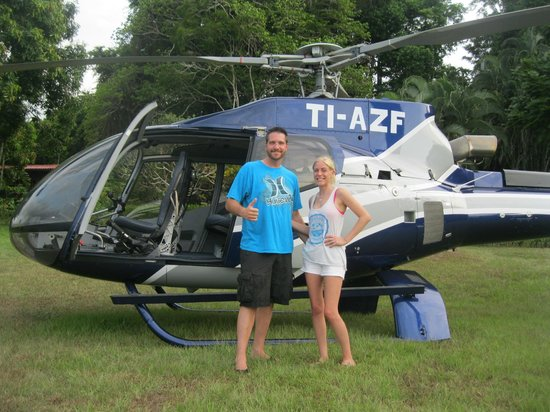 Drake Bay Wilderness Resort: Helicopter Ride Out
