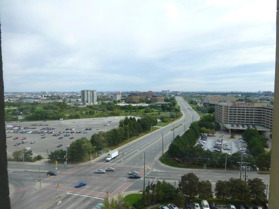 Travelodge Hotel Toronto Airport/Dixon Road: View from room... roads and not much else