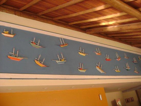 Terra Boa Hotel Boutique: Painel Decorativo no Restaurante