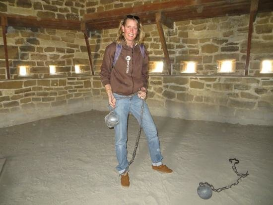 Fort Larned National Historic Site : In the guardhouse...the ball & chain