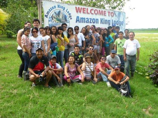 Amazon King Lodge: Amigos en albergue AKL