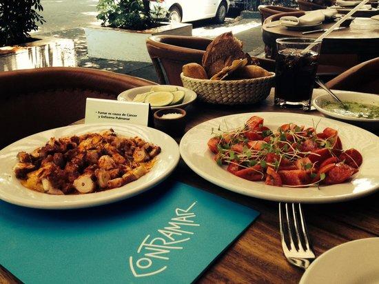 Contramar: Octopus, tomatoes with basil and more