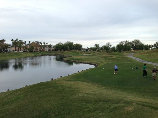 PGA West TPC Stadium Golf Course: Another difficult par 3 with water on the left the whole way.