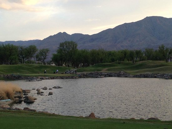 "PGA West TPC Stadium Golf Course: The famous par 3, #17 ""Alcatraz"""