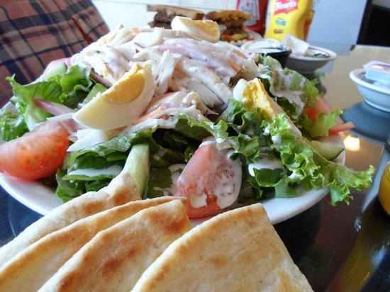 Herb Garden Cafe: COBB SALAD WITH PITA BREAD