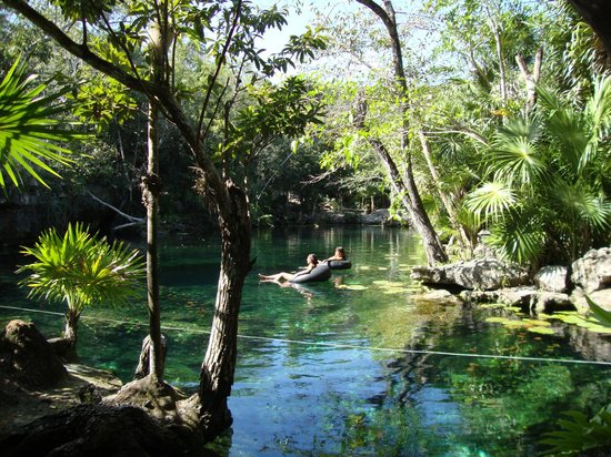 Cenote Chikin Ha: Scenic view of one of larger cenote