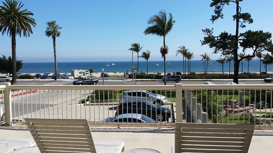 Cabrillo Inn at the Beach: view out the window of room 228