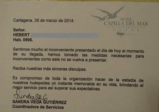 Hotel Capilla del Mar : Tarjeta