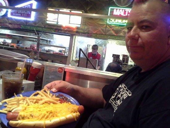 Ed Debevic's : big cheesy dog