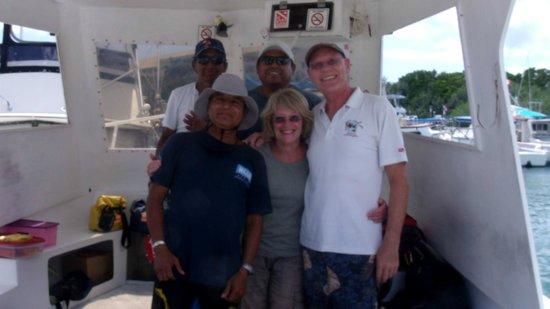 Studio Blue Dive Center : Us with 'Studio Blue' crew