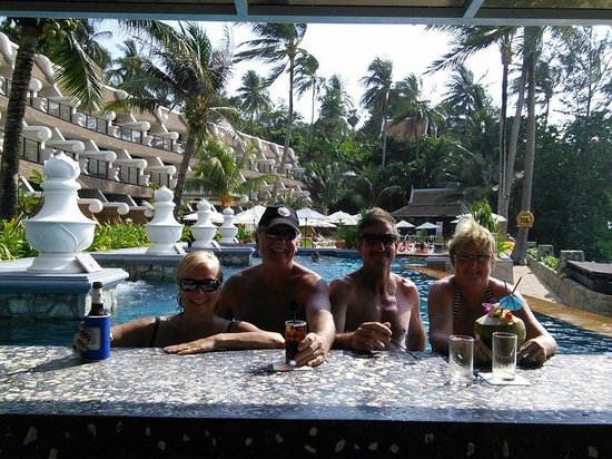 Beyond Resort Karon: Enjoying a drink at the pool bar.