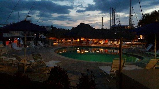 Cove Inn on Naples Bay : Pool at night,