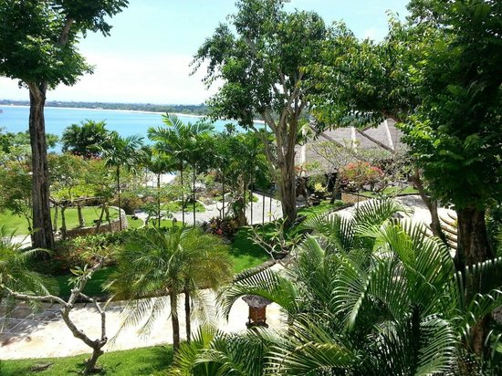 Four Seasons Resort Bali at Jimbaran Bay: View across the resort to the sea