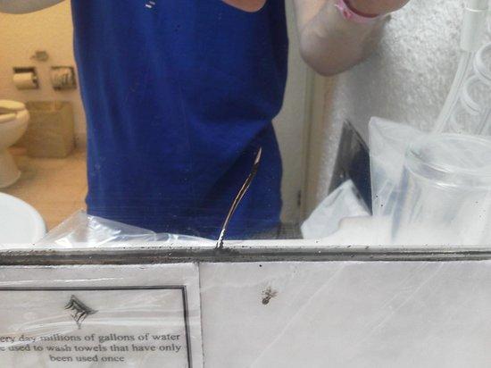 Tesoro Manzanillo: Cracked Mirror in Bathroom