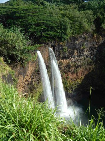 Wailua Falls View from Railing