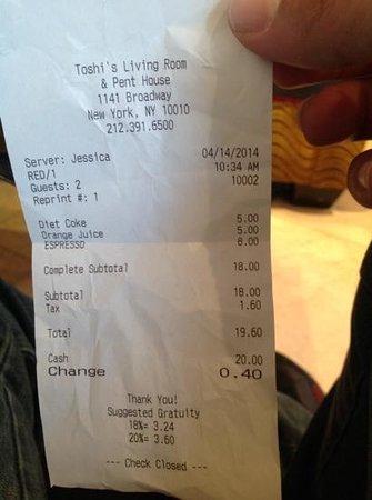 Flatiron Hotel: 8$ espresso