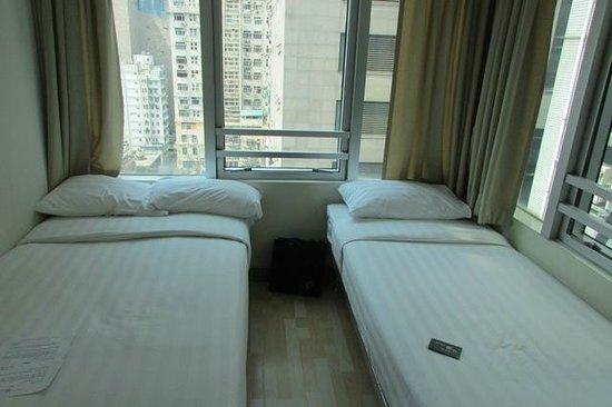 Small hotel room picture of hongkong mk hotel hong kong for Small hotel room