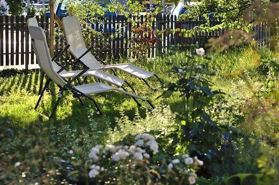 B&B Perron13 : im Garten unter dem Apfelbaum