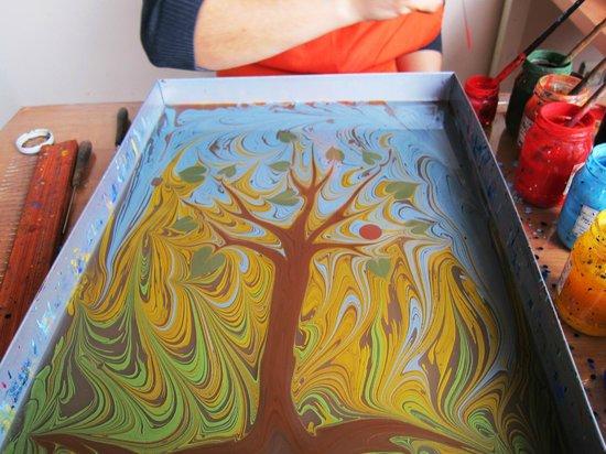 Turkish Marbling - Ebru Classes: Betul's amazing work