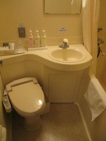 Shinjuku New City Hotel: Semi Double Room - bathroom