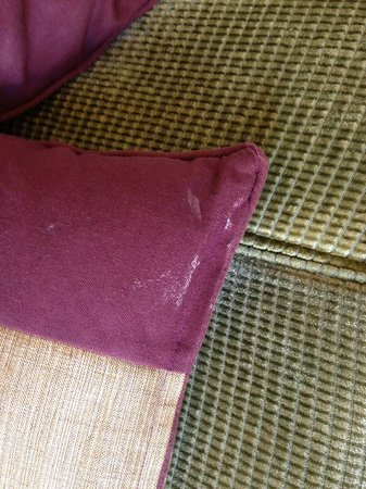 The Midland: white stains on cushions