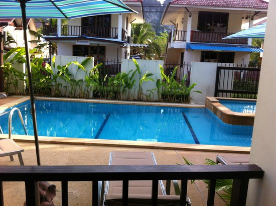 Krabi Apartment Hotel: View of pool from Apartment 1 on the Ground Floor