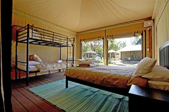 Castaways Moreton Island : Glamping tent (4-person internal)