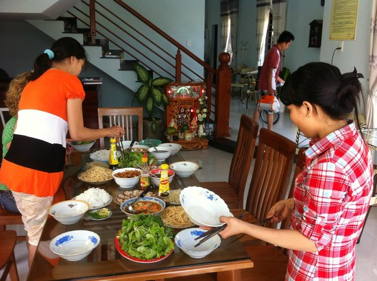 Homestay Dong Nguyen: Cooking class 1