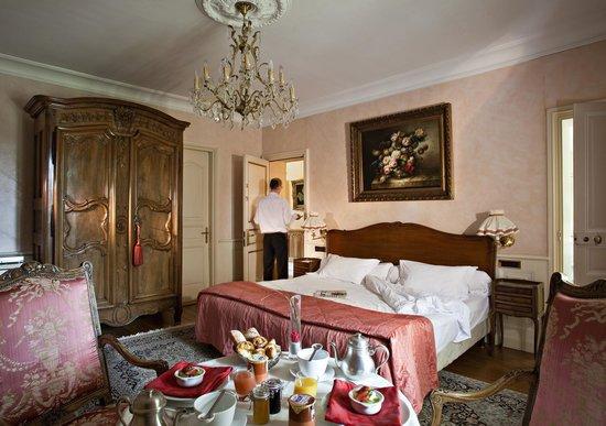 Hostellerie les Frênes : notre chambre