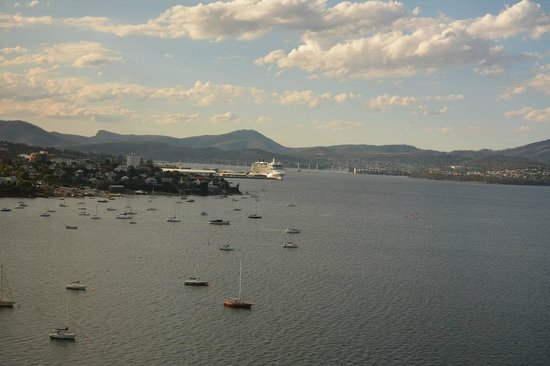 Wrest Point: View from our suite looking toward the city of Hobart