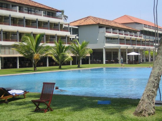The Blue Water: Blick aufs Hotel