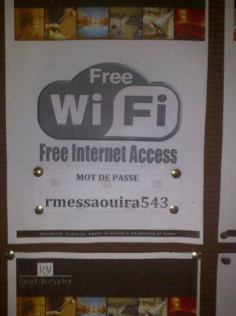 Hotel Ryad Mogador Essaouira: Жуткое качество интернета