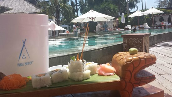 Nikki Beach Koh Samui : Sushis for vegetarian