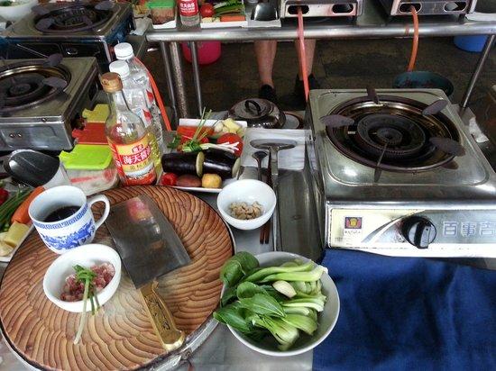 Yangshuo Cooking School: My station
