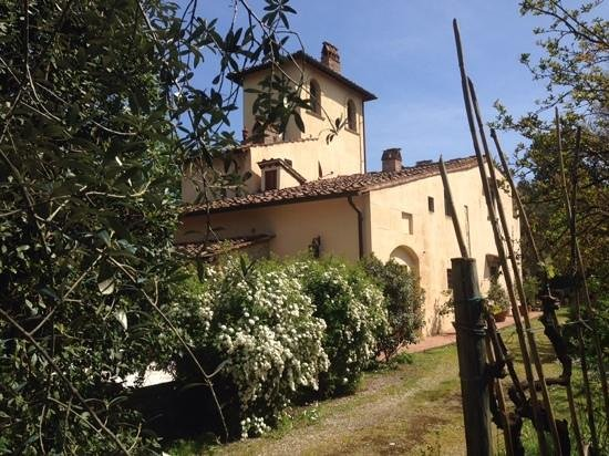 Villa Il Paradisino : il Melograno is on the left of this building and the courtyard is behind teh hedge