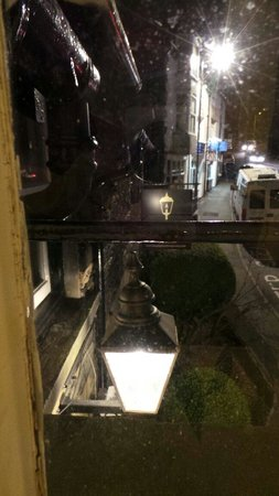 The Lamplighter: The lamp from our room window