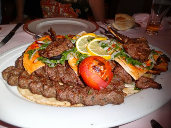 Zahle: Delicious mixed grill
