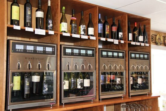 Mountaintop Wine Shoppe: Self-Serve Wine Tasting Machines!