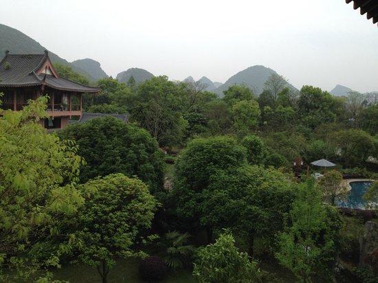 Guilinyi Royal Palace: View from room balcony