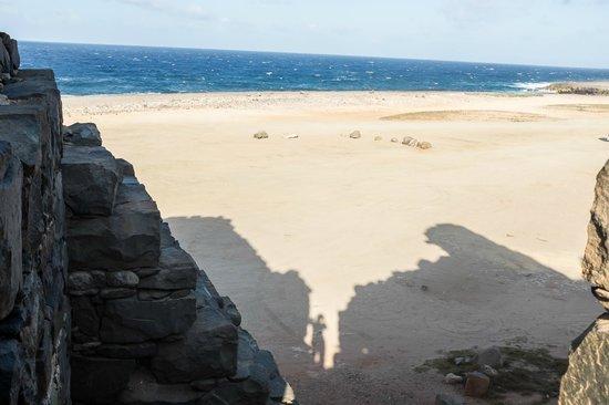 Balashi Gold Mill Ruins: ocean/ruins shadow