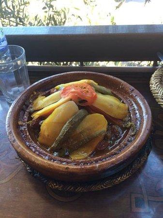 Jemaa el Fna: tajine de legume de la place jeema el fna