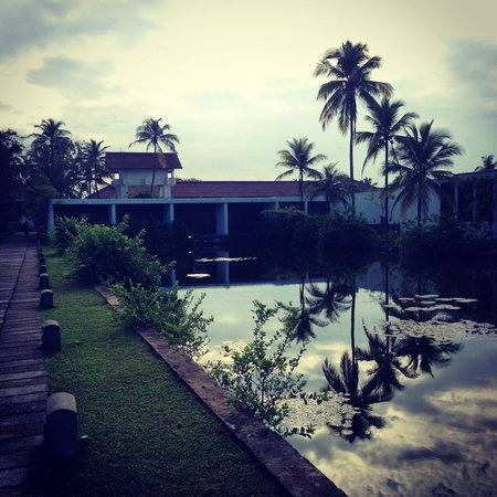 Jetwing Lagoon : Round the back of the gym and spa area
