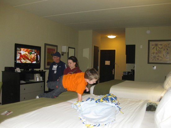 Holiday Inn Express Hotel & Suites Knoxville Clinton : Family excited about the nice room