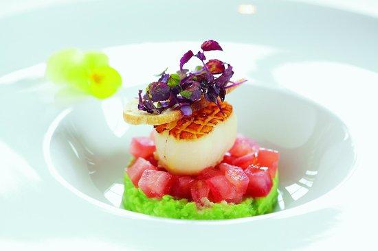 Hotel Rebe : Jakobsmuschel und Avocado