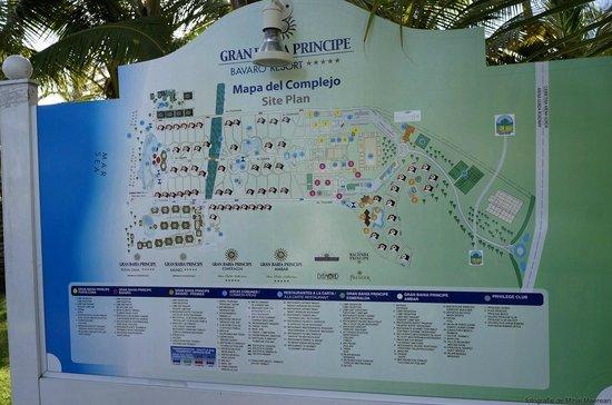 Grand Bahia Principe Bavaro : Resort map
